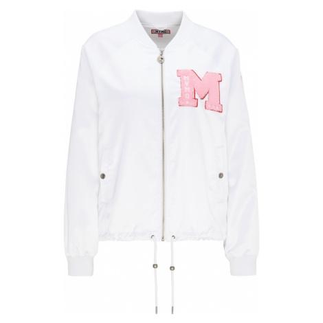 MYMO Prechodná bunda  biela / ružová