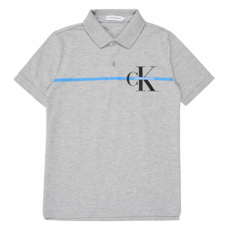 Calvin Klein Jeans Tričko  sivá melírovaná