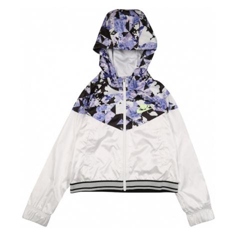 Nike Sportswear Prechodná bunda  biela / fialová