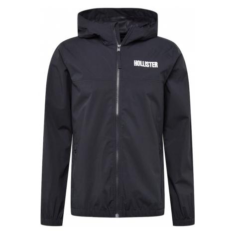 HOLLISTER Prechodná bunda  čierna / biela