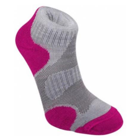 Ponožky Bridgedale Trailsport Lightweight Merino Cool Comfort Ankle Women's grey/raspberry/812
