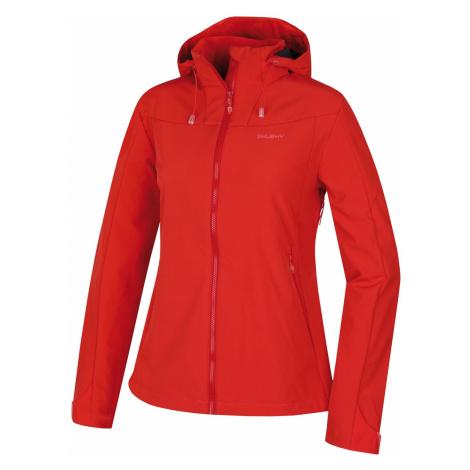 Husky Sahony jemná červená, Dámska softshell bunda