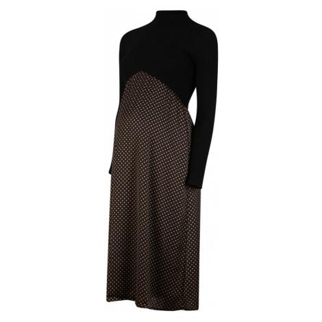 Attesa Šaty 'Costina+Pois'  hnedá / čierna