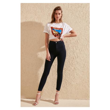 Trendyol Blue High Waist Jegging Jeans Navy