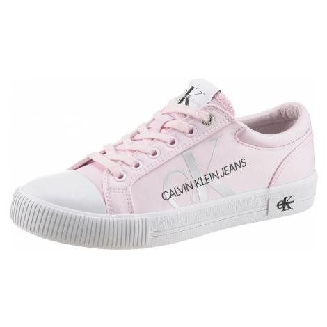 Calvin Klein Jeans Nízke tenisky  ružová / čierna / striebornosivá