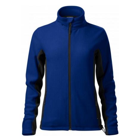 Dámska fleecová bunda kontrastná, kráľovská modrá