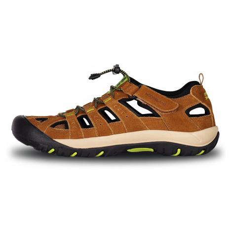 Nordblanc Orbit pánske kožené sandále béžové