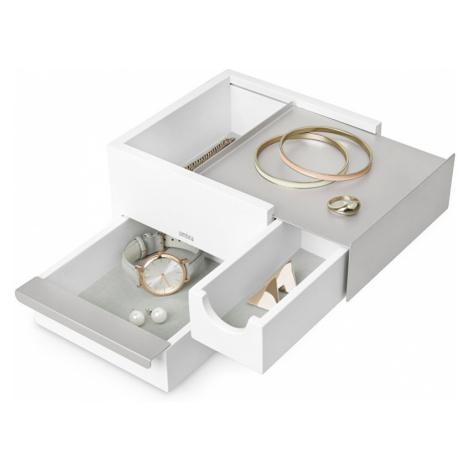 Umbra Šperkovnica STOWIT mini biela/nikel