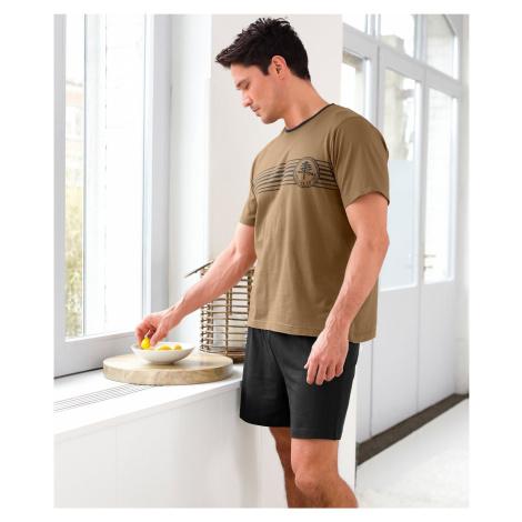 Blancheporte Pyžamo so šortkami a krátkymi rukávmi čokoládová/čiena
