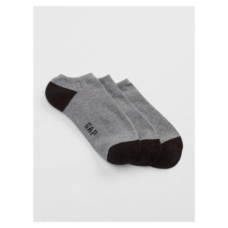 Šedé pánske ponožky GAP 3-Pack
