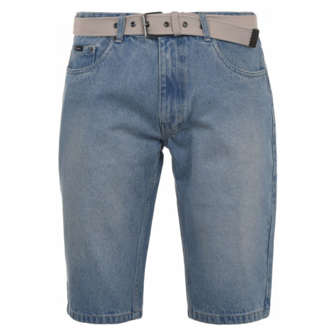 Pierre Cardin Web Belt Denim Shorts Mens
