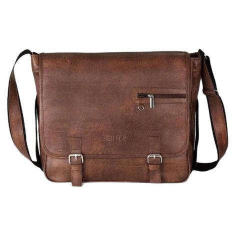 Pánska hnedá taška Soliera s12 brown vintage