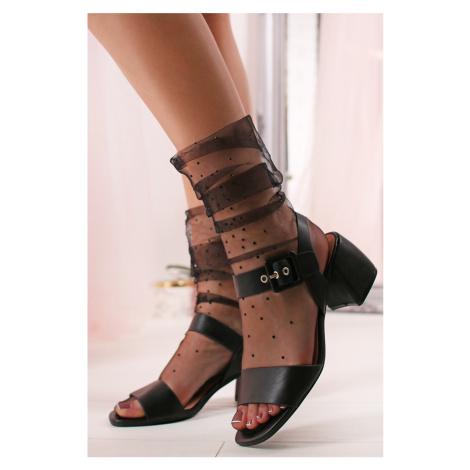 Čierne sandále Lindsay