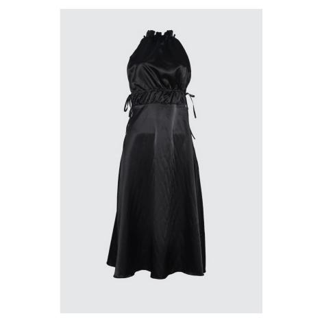 Trendyol Black Assynx Satin Dress