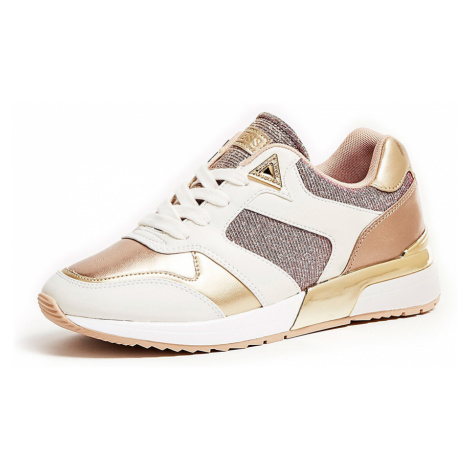 Guess zlaté tenisky Motiv Laminated Look Running Shoe