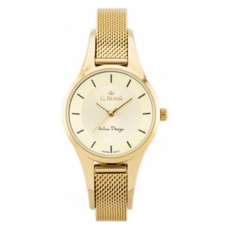 Dámske hodinky v zlatej farbe Gino Rossi 8154B-4D1