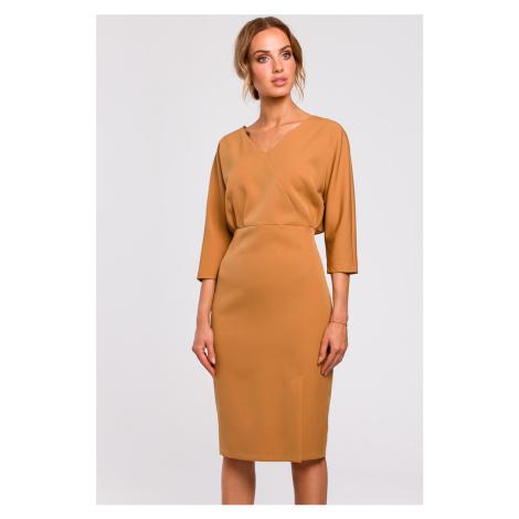 Škoricové šaty MOE M464