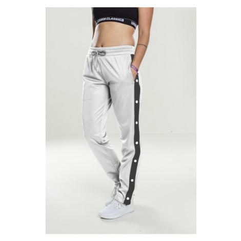 Urban Classics Ladies Button Up Track Pants wht/blk/wht - Veľkosť:S