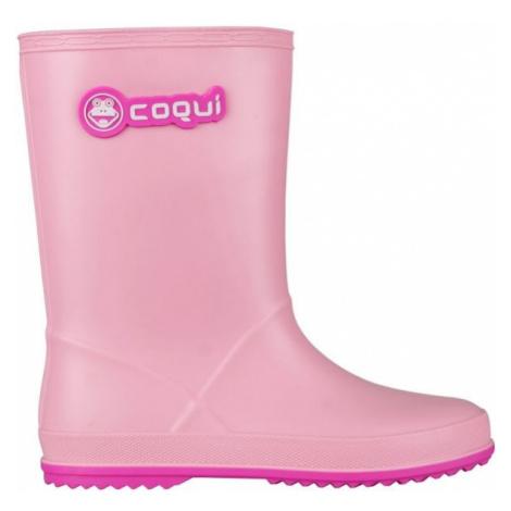 Coqui RAINY svetlo ružová - Detské gumáky