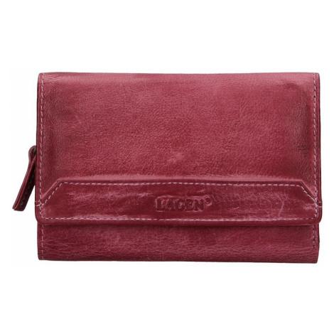 Dámska kožená peňaženka Lagen Denisa - fialová