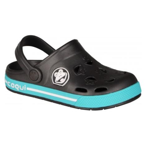 Coqui FROGGY čierna - Detské sandále