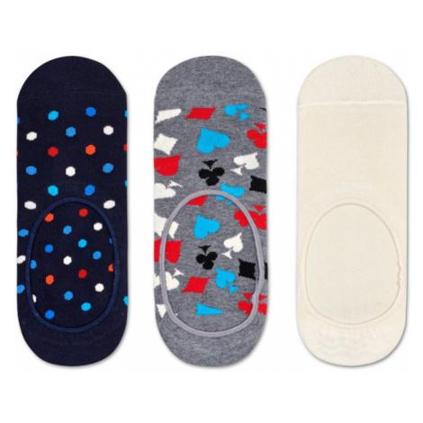 Happy Socks 3-Pack Dot Liner Sock-7.5-11.5 farebné DOT18-6000-7.5-11.5