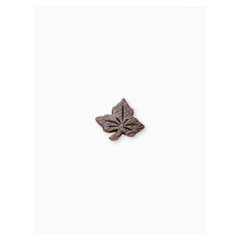 Ombre Clothing Men's lapel pin leaf A230 Brown