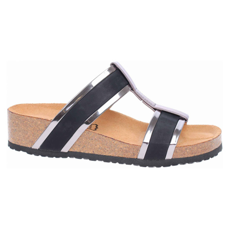 Dámské pantofle Bio Life 1094.51 black/antra Peggy 1094.51