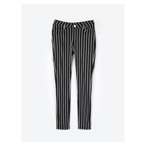 GATE Prúžkované nohavice skinny