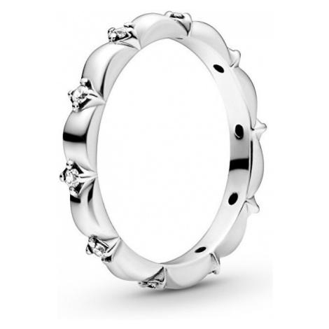 Pandora Strieborný prsteň s kamienkami 198791C01 mm