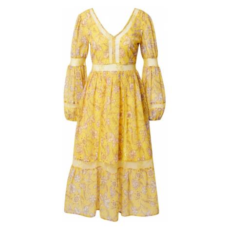 Frock and Frill Šaty  žltá / biela / svetlobéžová