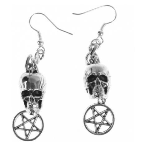 náušnice Skull / Pentagram - PSY812