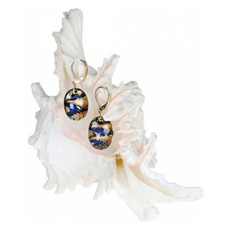 Lampglas Úžasné náušnice Egyptian Queen z perál Lampglas s karátovým zlatom EP28