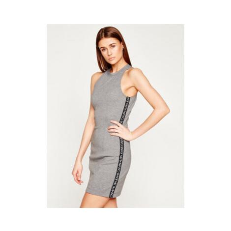 Calvin Klein Jeans Každodenné šaty Institutional J20J213629 Sivá Regular Fit