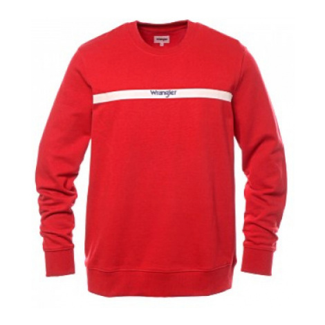 Mikina Wrangler Stripe logo červená