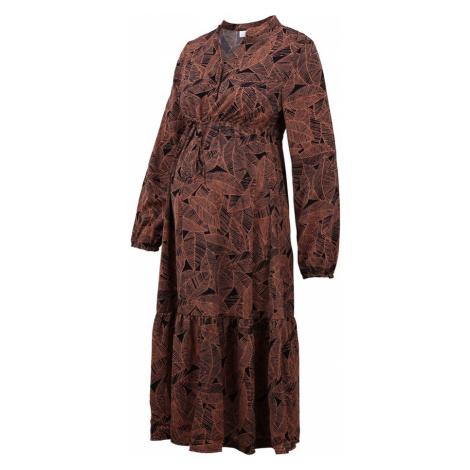 MAMALICIOUS Šaty  hnedá / čierna Mama Licious