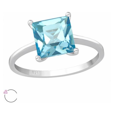 OLIVIE Detský strieborný prsteň MODRÁ VODA 4406
