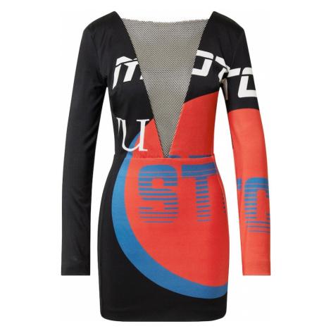 Just Cavalli Šaty  červená / čierna / modrá / biela