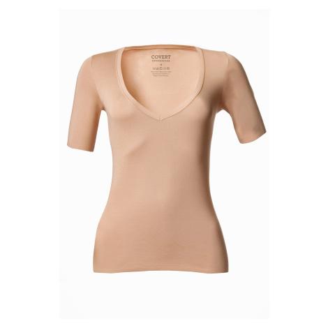 Dámske telové tričko pod košeľu béžová