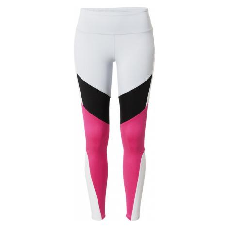 REEBOK Športové nohavice  biela / ružová / čierna