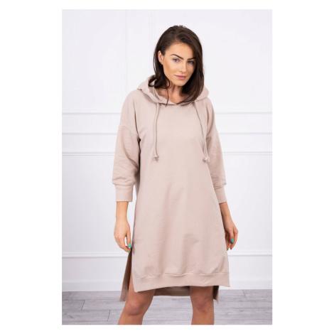 Jednofarebné mikinové šaty s vreckami