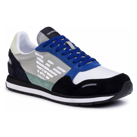 Sneakersy EMPORIO ARMANI - X4X215 XL200 R873 Black/Oxide/Navy/Pis