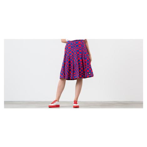 Stüssy Sabi Checker Pleated Skirt Red/ Blue Stussy