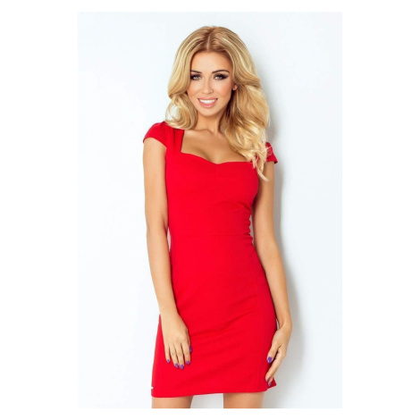 Atraktívne dámske šaty Belina červené 118-2