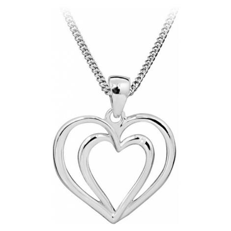 Art Diamond Strieborný náhrdelník s diamantom DAGS812 / (retiazka, prívesok)