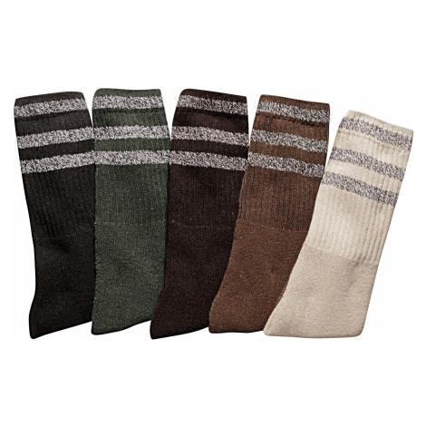 Blancheporte Ponožky, súprava 10 párov čierna,khaki,gašt,hned,béžová