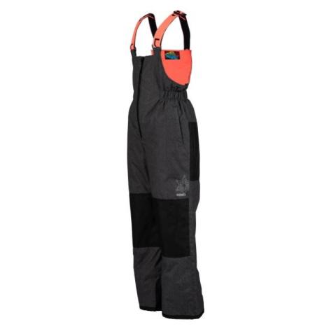 Lewro BONIFACE oranžová - Detské lyžiarske nohavice