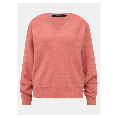 Rúžový basic sveter VERO MODA Gata