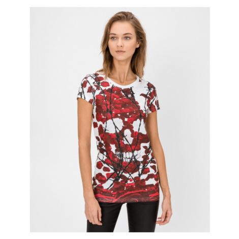 Philipp Plein Evil Garden Tričko Červená Biela