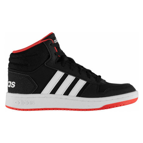 Adidas Hoops Mid Trainers Junior Boys